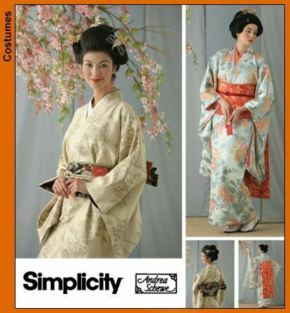 Schnittmuster Simplicity 7303 Damenkostüm Geisha 32-46 Kimono Gr