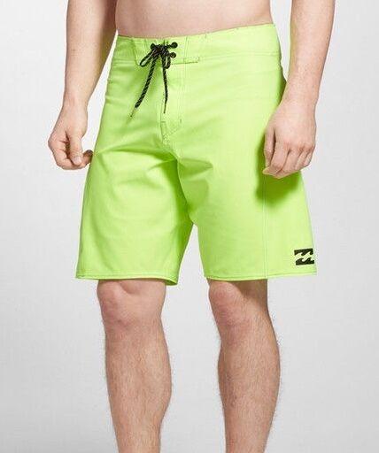 Billabong 0910 Lime All Day X Boardshort Sz 34