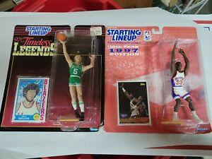(2) 1997 Bill Walton-Patrick Ewing Timeless Legends Starting Lineup Figure SLU