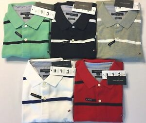 cfcbb97c Image is loading Tommy-Hilfiger-Polo-Shirt-Mens-Performance-Wicking-Uv-