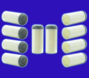 Slip On Cue Tips Set Of 10 Pool Cue Replacement Tips