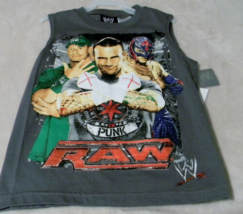 6//7 Cena And Mysterio Gray Top Green Pants Punk WWE RAW Boy/'s Outfits S