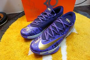 promo code a0cff f346f Image is loading DS-2014NIKE-KD-VI-6-BHM-BLACK-HISTORY-
