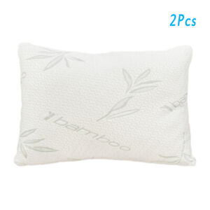 LUXURY PAIR OF MEMORY FOAM CORE ORTHOPAEDIC EXTRA SUPPORT FIRM BED PILLOW
