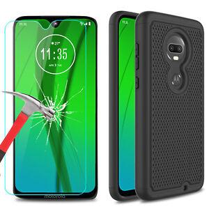 For Motorola Moto G7 G7 Plus Case Hard Shockproof Cover Glass Screen Protector Ebay