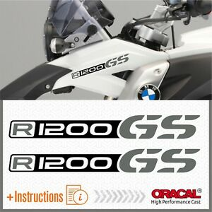2x-R1200GS-Black-Grey-BMW-ADESIVI-R1200-GS-PEGATINA-STICKERS-AUTOCOLLANT-R-1200