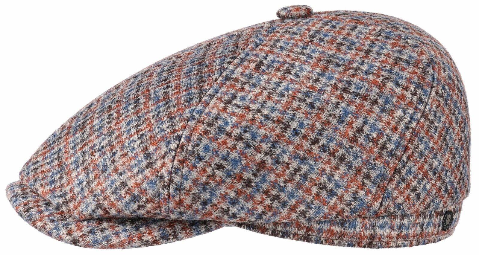 Stetson x Boy Cologne Haie Baker Boy x Flat Cap Cap Oregon BROOKLIN Wool 138 NEW TREND 74247a