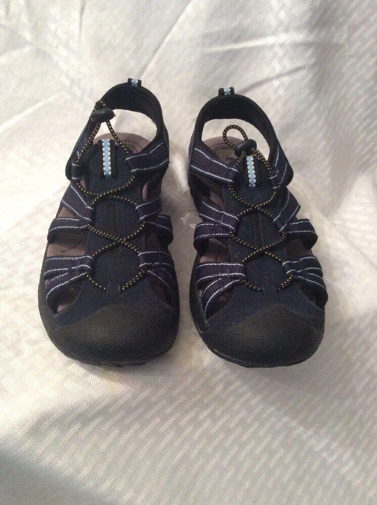 EUC Everest Women's Sandals Navy Blue Waterproof, Outdoor, Hiking, Sport Sandals Women's Size 7m f25664