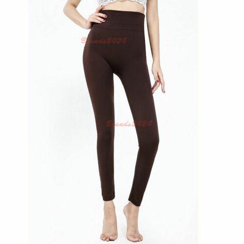 Women/'s Elastic High Waist Sport Leggings Slim Tummy Control Fleece Leggings
