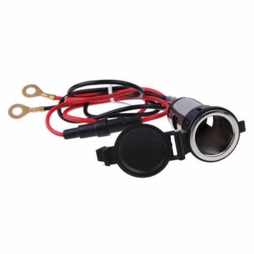 10A 12V 120W Power Boat Car Cigarette Lighter Socket Plug W// Wire Ring Fuse Kit