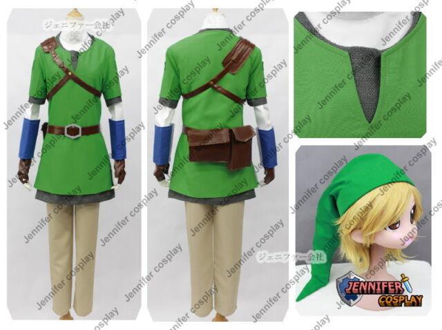 The legend of zelda skyward sword Link Cosplay Costume