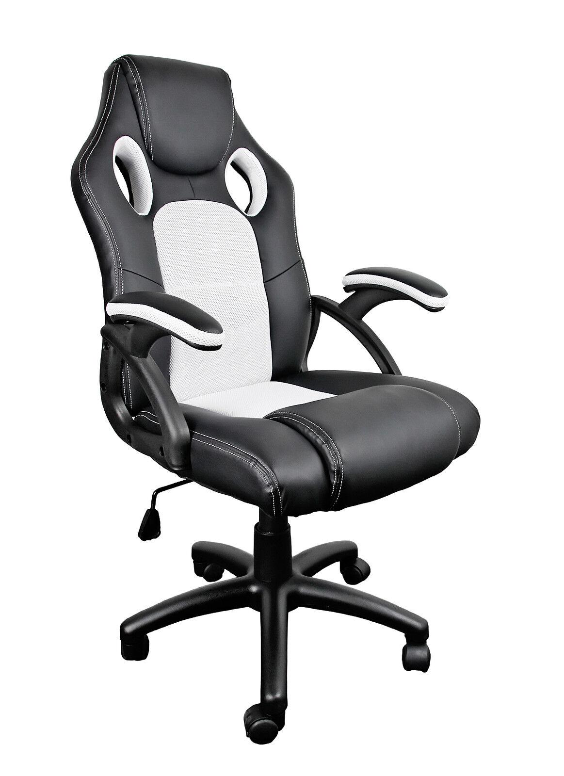 Racing Sport Bucket Computer Desk Gaming Office Chair Seat