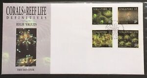 Singapore-FDC-Corals-amp-Reefs-Life-High-Values-1994
