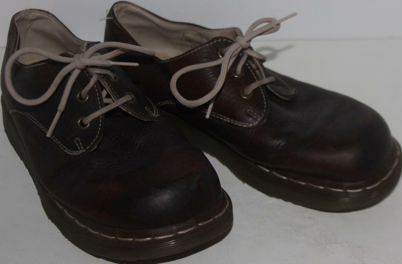 Doctor Doc Martens Women's shoes Brown Leather Oxford Lace Up Sz 6 FREE SHIPPING