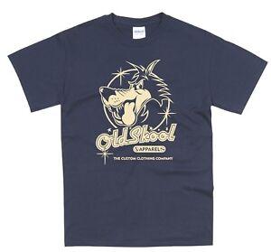 04cfa56f587c9 Details about Oldskool Wolf Logo Classic Car Hotrod Vintage Rockabilly T  Shirt OS01 NAVY