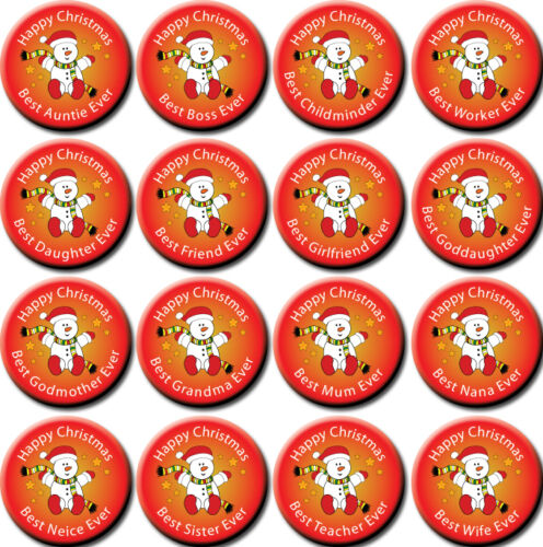 stocking filler! Christmas Badges//Magnets for all your female family /& friends