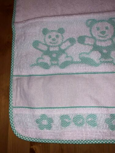Cross stitch baby bibs and matching towel available.100/%cotton made in Italy