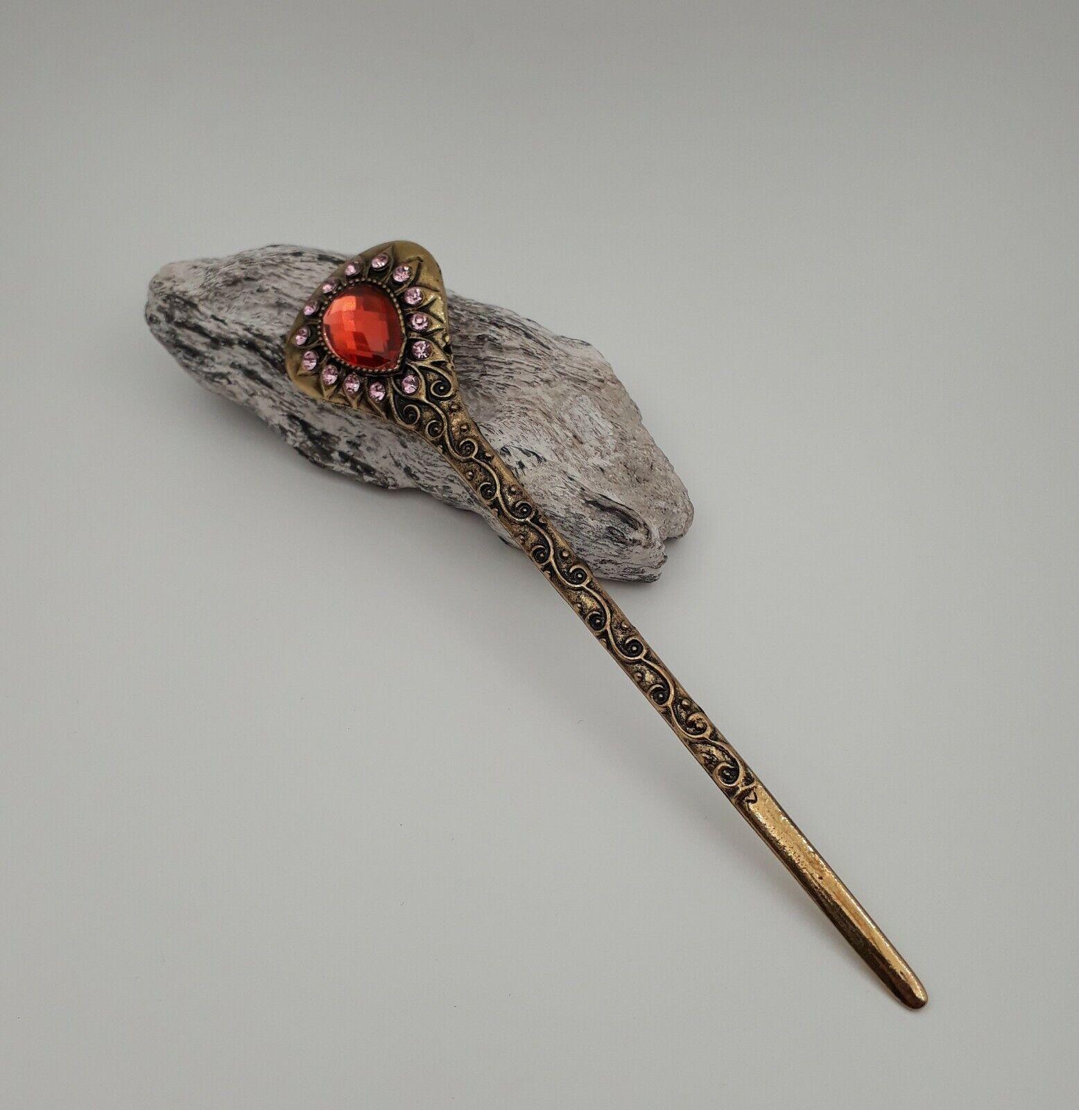 Haarstab Antik Design mit Kristallen Haarschmuck hip Hairpin Haarnadel ME 342