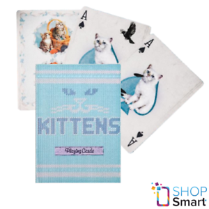 ELLUSIONIST-MADISON-KITTENS-BLUE-CATS-PLAYING-CARDS-DECK-GAFFED-MARKED-NEW