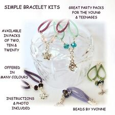 A2/MIX dieci Bracciale con Charm KIT 8mm Crystal Beads Gioielli PARTY Packs
