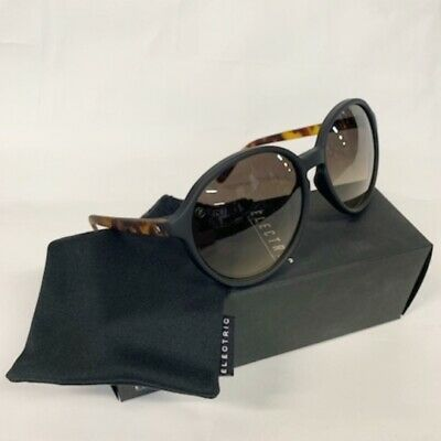 NEW Electric Riot Gloss Tort Ohm Bronze Womens Large Round Sunglasses Msrp$100