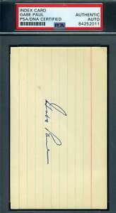 Gabe-Paul-PSA-DNA-Coa-Autograph-Hand-Signed-Yankees-3x5-Index-Card