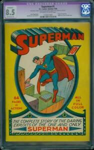 Superman-1-CGC-8-5-OW-W-MP-Golden-Age-Key-DC-Highest-Grade-Mega-Grail-IGKC-L-K