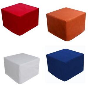 Puf pouf letto futon senza rete misura 65x65 cm aperto 65x195 in vari colori ebay - Vendita pouf letto ...