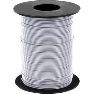 100 Meter Litze Weiß 0,14mm² Kupferschaltlitze LIY Kabel auf Spule
