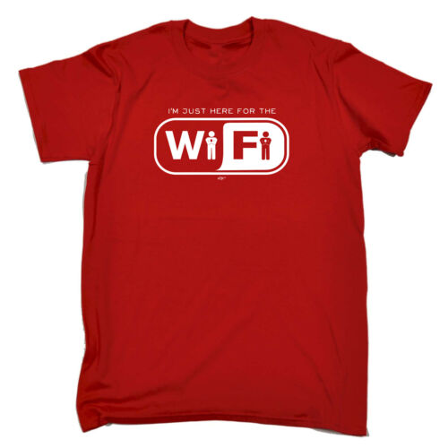 Funny Kids Childrens T-Shirt tee TShirt Im Just Here For The Wifi
