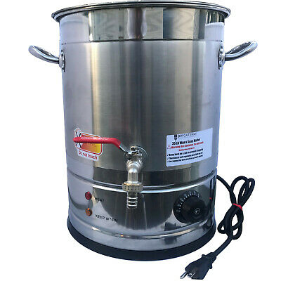 Large Candle Wax Melter with Stainless Steel Spigot and Temperature Control