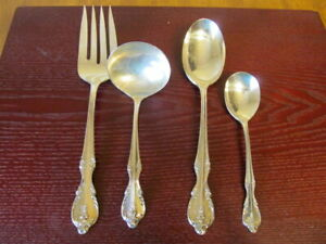 IS-SOUTHERN-SPLENDOR-Set-of-4-Serving-Pieces-Rogers-Silverplate-Flatware-Lot-X