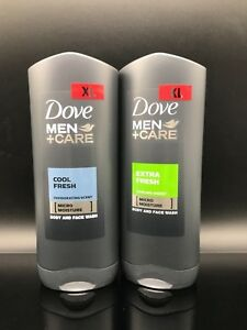 Dove Men Care Body And Face Moisture Wash Clean Comfort Xl Twin Pack 400ml Each Ebay