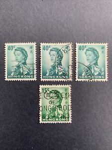 1962 HONG KONG ,QUEEN ELIZABETH 15C,40C