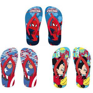 GARCONS-ENFANTS-personnage-de-DISNEY-Avengers-Spiderman-Mickey-TONGS-SANDALES