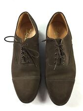 MEN'S BRITISH WM. LOAKE & SONS PREMIUM BROWN SUEDE DRESS LEATHER SHOES SIZE 9 E