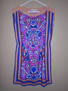 Ann-Taylor-LOFT-Women-039-s-Shift-Dress-Sleeveless-Elastic-Waist-Size-Medium-EUC