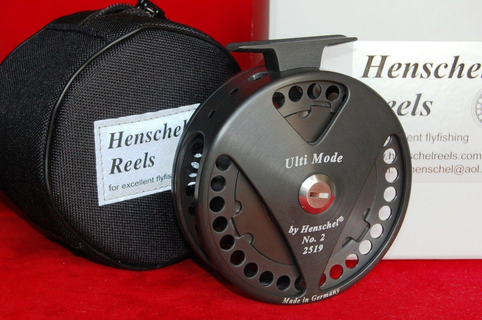 HENSCHEL ULTI MODE saltwater fly reel = Anti Reverse + Direct Drive