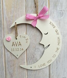 Unique personalised baby birth plaque sign gift love you to the image is loading unique personalised baby birth plaque sign gift love negle Gallery