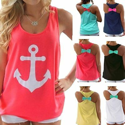 Fashion Women Cute Summer Vest Top Sleeveless Blouse Casual Tank Tops T-Shirt