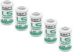 Saft-Bateria-LS-14250-1-2AA-CLORURO-DE-tionil-del-LITIO-3-6v-1200mAh-5-Pieza