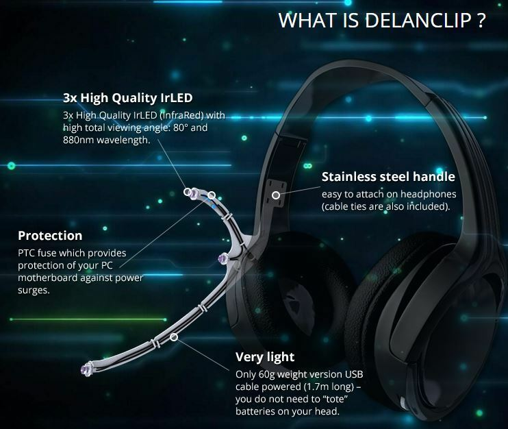 DELANCLiP Gamer Kit - PC Head Tracking, FaceTrackNoIR, TrackIR Alternative