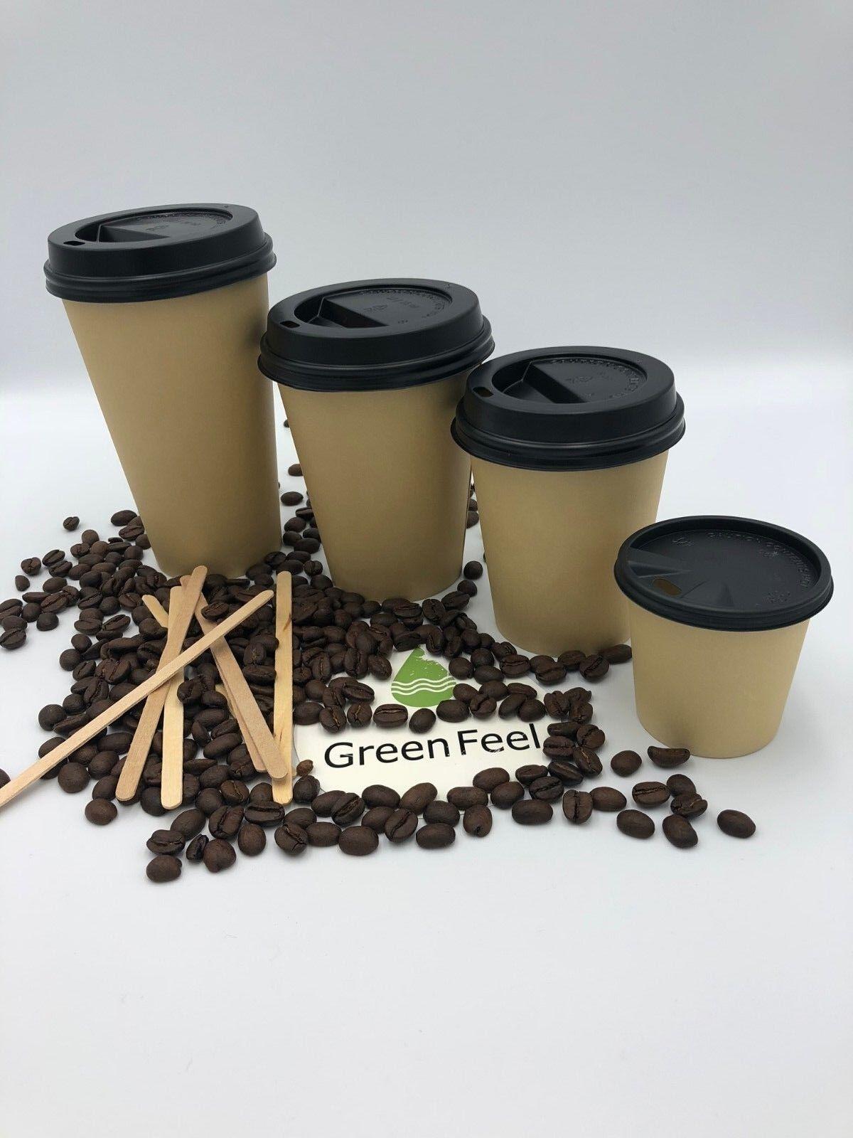 Kraft Couleur Papier Papier Papier Tasses 4/8/12/16oz Café Thé Froid Boissons Chaudes Sip Lids 581062