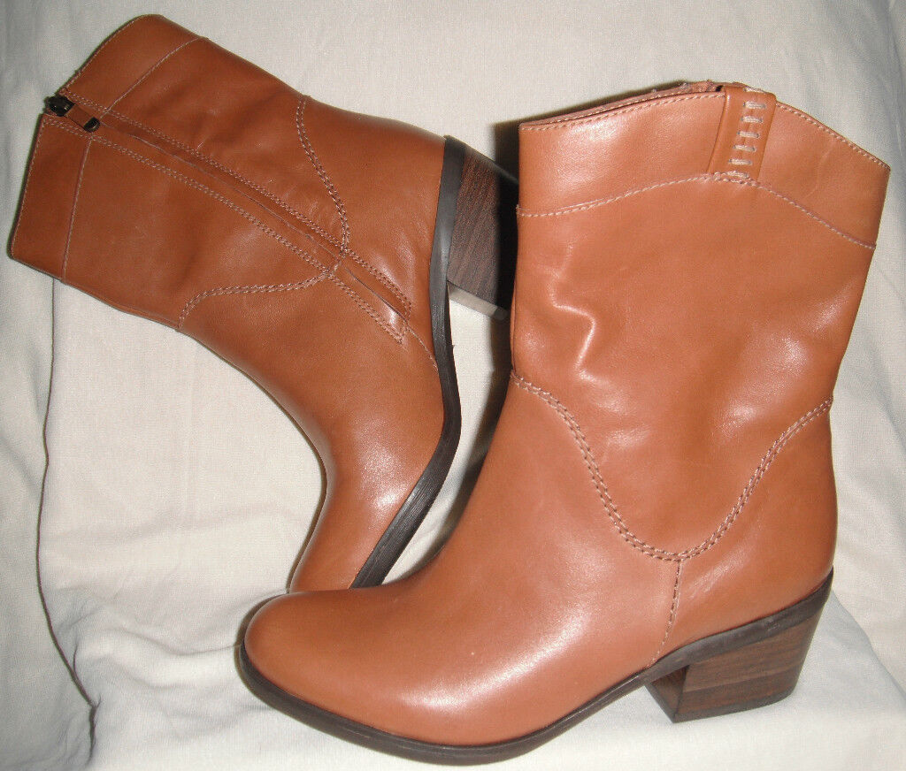 New B. Makowsky   Brown Western Western Western Inspired Leather Boots sz 6M  156 81c02d