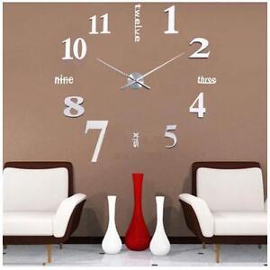 Design-Wand-Uhr-Wohnzimmer-Wanduhr-Spiegel-Wandtattoo-Deko-3D-XXL-Zimmer-DE