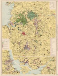 Map Of England Districts.Details About England Wales Industrial Districts Manufacturing Production Types 1925 Map