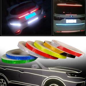 2 x 8M Reflective Safety Warning Tape Car Bike Motorcycle Sticker Glow Red