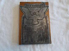 Antique Printers Block Metalwood Pentecost Holy Spirit Christian