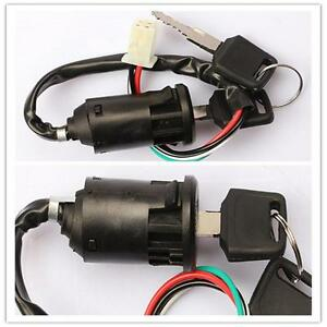 New Off Road Motorcycle 4 wire Ignition Switch & Lock with key Chinese ATV YN