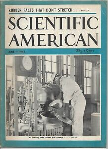 Scientific American Magazine June 1942 WWII Carbon Dioxide Fire Systems